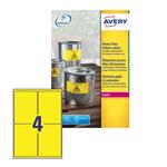 Poliestere adesivo l6127 giallo fluo 20fg A4 99,1x139mm (4et/fg) laser avery