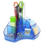 Portapenne Multipot Classic - 14x20x9 cm - azzurro trasparente - Arda