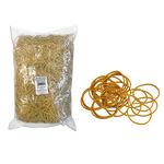 Elastici - gomma gialla - ø 2 cm - Markin - sacco da 1 kg