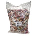 Elastici - gomma - misure e colori assortiti - Markin - conf. 1 kg (10 sacchetti da 100 g ciascuno)