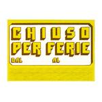 Cartello in cartoncino CHIUSO PER FERIE - 23x32 cm - giallo - CWR