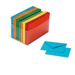 Scatola 100 cartoncini (200gr) + 100 buste (90gr) - arcobaleno - formato 4 - Favini