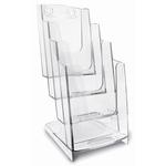 Portadepliant modulare - 4 tasche 1/3 A4 - 11,5x26,5x18,4 cm - Arda