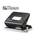 Perforatore in metallo - 2 fori - passo 8 cm - nero - Titanium