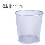 Cestino gettacarte - metallo - 12 lt - silver - Titanium