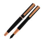 Penna Stilografica Impressa - punta M - nero/rosegold - Monteverde