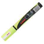 Marcatore a gesso liquido Uni Chalk Marker - punta tonda da 1,80-2,50mm - giallo fluo - Uni Mitsubishi