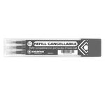 Refill per penne gel cancellabili - punta 0,70mm - nero  - Osama - conf. 3 pezzi