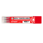 Refill per penne gel cancellabili  - punta 0,70mm - rosso - Osama - conf. 3 pezzi