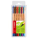 Pennarello Greenpoint - 6 colori - punta 0,8mm - Stabilo - astuccio 6 pennarelli