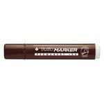 Marcatore permanente Marker - punta a scalpello - tratto 6,50mm - marrone - Tratto
