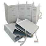 Faldone - legacci rivettati - 35x25 cm - dorso 20 cm - grigio - Euro-cart