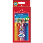 Astuccio 24 pastelli colorati Color Grip - acquerellabili - Faber Castell