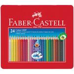 Colour Grip Astuccio in Metallo - acquerellabili - Faber Castell - scatola 24 matite