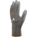 Guanto di precisione VE702PG - poliestere - palmo in poliuretano - taglia 10 - grigio - Deltaplus