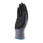 Guanto di precisione VE727NO - poliammide - palmo in nitrile/poliuretano - grip sul palmo - taglia 10 - grigio/nero - Deltaplus