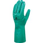 Guanto da lavoro industriale Nitrex VE801 - nitrile floccato cotone - taglia 10 - verde - Deltaplus