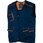 Gilet da lavoro Panostyle® M6GIL - sargia/poliestere/cotone - taglia XL - blu/arancio - Deltaplus
