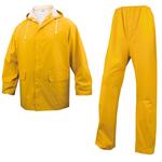 Completo impermeabile EN304 - giacca + pantalone - poliestere/PVC - taglia L - giallo - Deltaplus