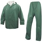 Completo impermeabile EN304 - giacca + pantalone - poliestere/PVC -  taglia L - verde - Deltaplus