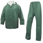 Completo impermeabile EN304 - giacca + pantalone - poliestere/PVC - taglia XL - verde - Deltaplus