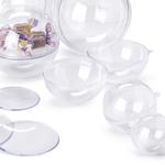 Sfera polistirene trasparente - ø100mm - apribile - Ri.plast