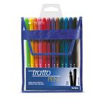 Pennarello fineliner Tratto Pen - tratto 0,5mm - colori assoriti - Tratto - busta 12 pennarelli