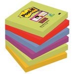 Blocco foglietti Post it® Super Sticky - colore Marrakesh - 76 x 76 mm - 90 fogli - Post it®