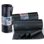 Sacchi per rifiuti Hercules - 80x110 cm - 130 L - 70 micron - nero - Perfetto - rotolo da 10 sacchetti