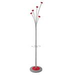 Appendiabiti con portaombrelli - 5 posti - 187x38 cm - rosso - Alba