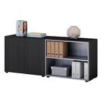 Coppia Prestige - mobili bassi a giorno - 162,8x43x81,4 cm - nero venato - Artexport