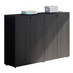 Coppia Prestige - mobili medi a giorno - 162,8x43x119,8 cm - nero venato - Artexport