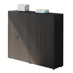 Coppia mobili medio alti a giorno Prestige - 162,8x43x158,2 cm - nero venato - Artexport