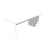 Scrivania Easy - lineare - 160x80cm - bianco - Artexport