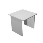 Scrivania Easy - lineare - 80x80x72 cm - grigio - Artexport