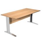Scrivania Easy Metal - lineare - 160x80x72 cm - faggio - Artexport