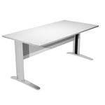 Scrivania Easy Metal - lineare - 140x80x72 cm - grigio - Artexport