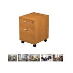 Cassettiera Easy - 41,8x52x59,5 cm - 1 cassetto + 1 classificatore - con ruote - noce chiaro - Artexport
