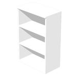 Mobile Easy - medio a giorno - 80x35cm - H120cm - bianco - Artexport