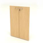 Coppia ante Easy - in melaminico - per mobile medio - 80x115 cm - spessore 18 mm - faggio - Artexport