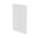 Coppia ante Easy - per mobile medio - 80x115 cm - spessore 5 mm - vetro satinato - Artexport