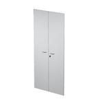 Coppia ante Easy - in melaminico - per mobile alto - 80x175 cm - spessore 18 mm - grigio - Artexport