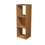 Libreria casellario Rainbow - 3 caselle - 35,9x29,2cm - H103,9cm - noce chiaro - Artexport