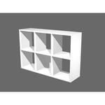 Libreria casellario Rainbow - 6 caselle - 104x29,2cm - H69,8cm - bianco - Artexport