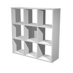 Libreria casellario Rainbow - 9 caselle - 104x29,2cm - H103,9cm - grigio alluminio - Artexport