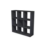 Libreria 9 caselle 104x29,2cm-h103,9cm nero venato - rainbow