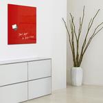 Lavagna magnetica in vetro artverum® - 480x480x15 mm - rosso - Sigel