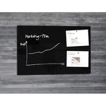 Lavagna magnetica in vetro artverum® - 650x1000x15 mm - nero - Sigelm
