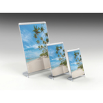 Portadepliant/Portafoto - 21x30 cm - plastica cristallo - Arda