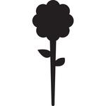 Silhouette Tags - formato fiore - 15x25 cm - nero - Securit - set 5 pezzi